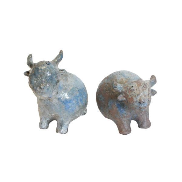 Antique Ceramic Cow Artifact
