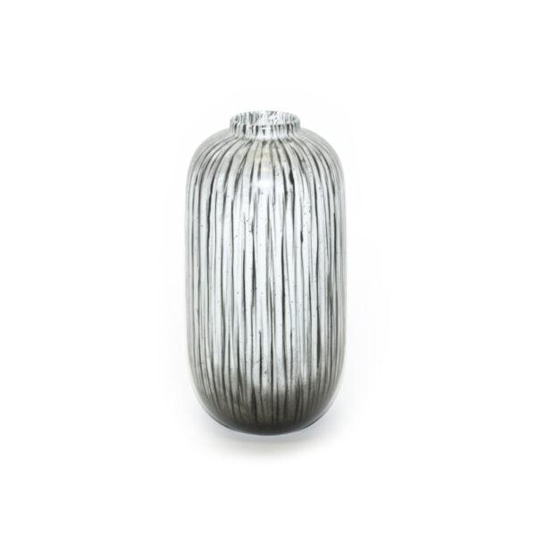 Black and White Striped Vase