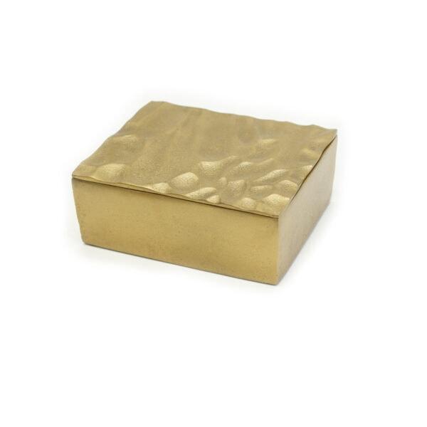 Rippled Gold Box