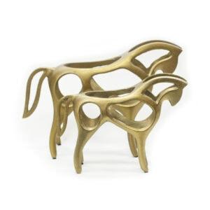 Gold Horse Sculpture
