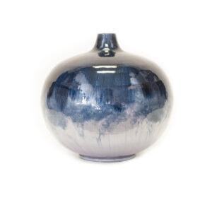 Hand Painted Iron Vase