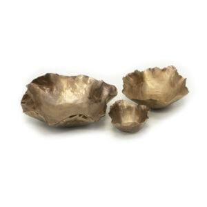 Antique Gold Ceramic Bowls