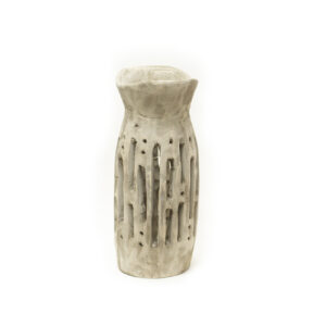 Gray-Black Carved Vase