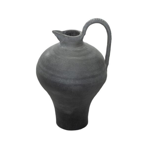 Black Ceramic Jug