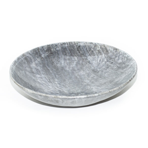 Large Gray Marble Bowl