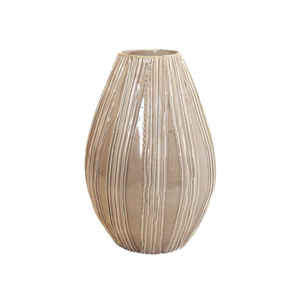 Handcrafted Shiny Taupe Vase