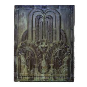 Art Deco Copper Panel