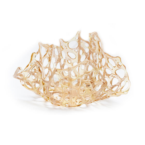 Gold Glass Coral Bowl