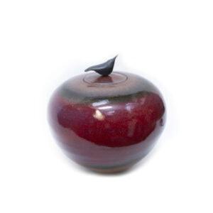 Glazed Red Bird Pot