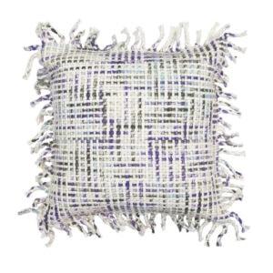 Flat Weave Pillow Pillow, Beige/Olive
