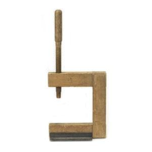 Vintage Wood Clamp on Custom Stand
