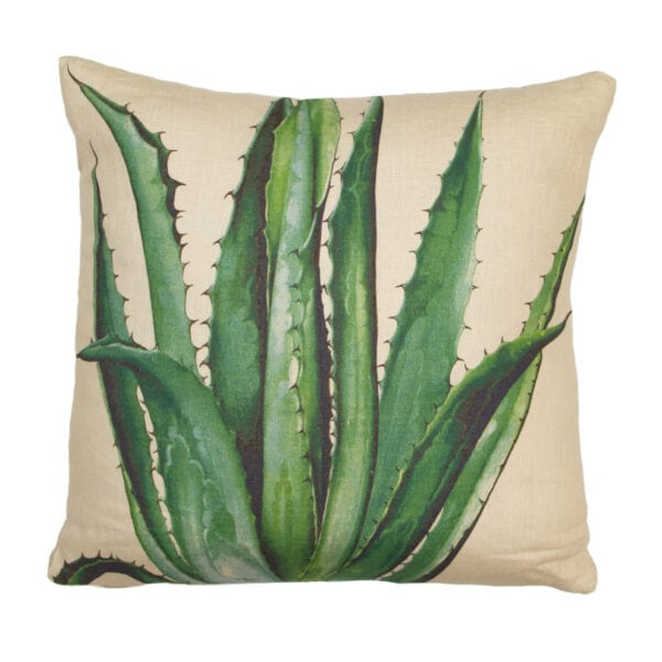 Hand Painted Agave Pillow