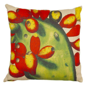 Prickly Pear Hand Painted Pillow