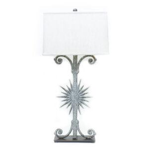 Gray Starburst Table Lamp