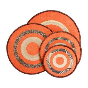 Painted Orange Baskets