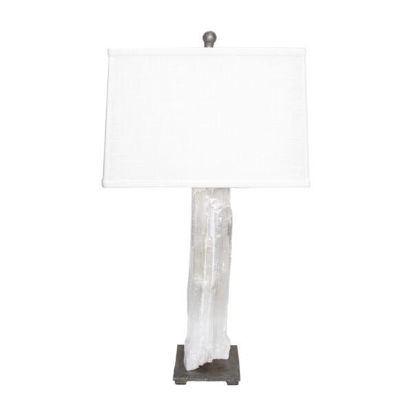 White Selenite Lamp