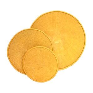 Painted Yellow Tonga Baskets